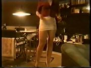 SAG - Hot Ass & Legs squeezed in White Tight Fit Mini-Skirt