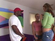 Hottie Jenna Haze in interracial threesome