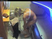 Voyeur webcam nude girl in solarium part12