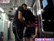 Aya Matsuki is roughly fucked by stranger in dark in subway