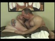 Daddy bear and his chub