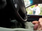 Granny CarDickFlash asking direction 2