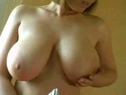 Busty girl doing the ioning and hubby gets horny RM
