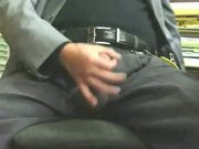 Male masturbation in office