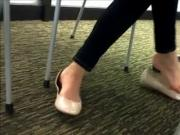 Candid Shoeplay at the Library