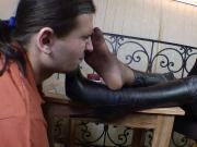 Nice Girl Nylon Feet Smelling