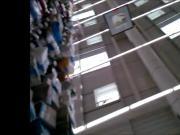 milf stocking in supermarket