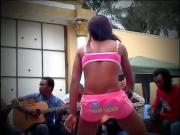 African Girl With Nice Booty in an Aggressive Tribal Twerk
