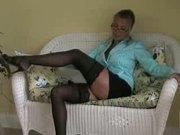 Hot Busty Blonde Cougar Amber Lynn Banged