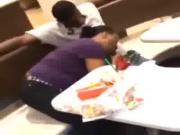 Smh Wtf she giving him head in McDonald's !!!!