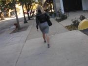 Business PAWG Jiggle Short Skirt
