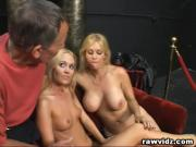 Perv Old Man Bangs Two Hot Blonde Girls