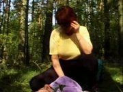 Chubby in Forest Binds a Guy And Rides Him Senseless by RB