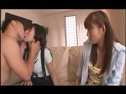 JAV Girls Fun - Two girls and Man. 1-4