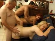 Mature lady fucked by young