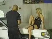Hot TS shemale Barbie get fucked and fucks guy