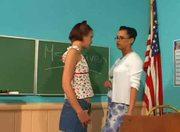 Student fucks Teacher with Strapon