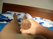 Filling in a nylonsock in pantyhose