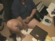 Hidden cam. My mum masturbate at computer