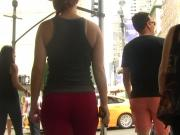 NYC Red Tights Tourist