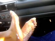 footjob in car..AGAIN!!!