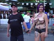 Naked Street Flashers Fantasy Fest 15 Daytime