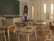 Lovely School Girl Masturbate with a Recorder and Cum