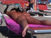 Wonderful thong ass on the beach