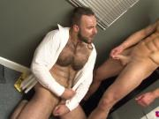 Ripped office hunks cocksucking after hours