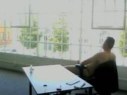 chris web caming at office
