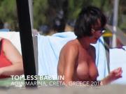 Topless babe in Agia Marina, creta 5