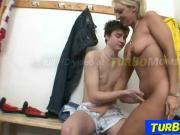 Blonde milf Marketa sex with a sporty student