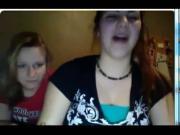 teen webcam flash great reaction 2 girls