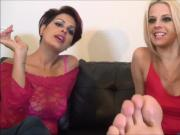 4 Fabulous feet and two smoking girls