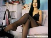 Web Models 4 Black Pantyhose,Dangling