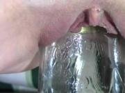Frozen Bottle, Acorn Squash, Glass Container Pussy Insertion