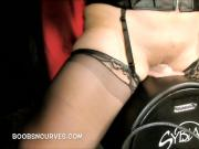 Young plumper made to ride a sybian