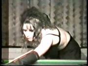 1980s? Amateur Stripper Gang Bang in Snooker Hall