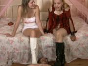 Our Spit, Your Face!!, two sexy pretty girls boots fetish