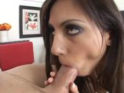 Lucky guy fucks a to die for brunette with banging body