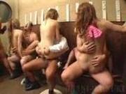 5 Japanese girls group sex