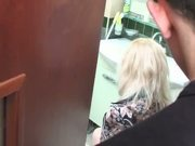 Mature Ruusian Blonde Has Sex In The Bathroom !