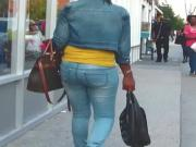 Phat Ass Ebony MILF Tight Jeans