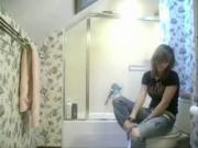 Spy cam in bathroom - busted