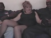 Chubby Slut Wife Gets Gangbanged by 4 Big Black Cocks chunk1of4.elN