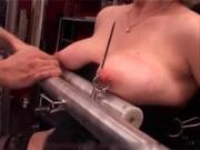 My Sexy Piercings - heavy pierced slave tortured with candle