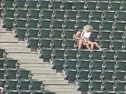 Couple Having Sex At The Stadium