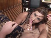 Hot mom pleases young cock with her mouth