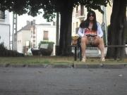 Crossdresser outdoor
