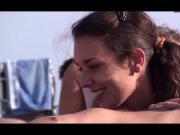 French nudist beach Cap d'Agde hot brunette sucking -- R2F